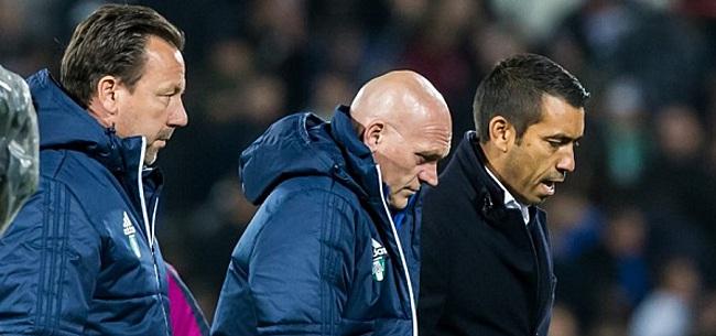 Foto: Van Bronckhorst spaart zeker vier spelers in Tilburg
