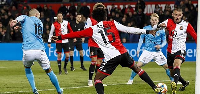 Foto: Feyenoord wint ondanks oliedomme rode kaart Jörgensen