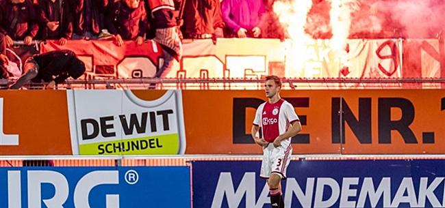 Foto: Veltman baalt van Ajax-fans: 'Het gaat te ver'