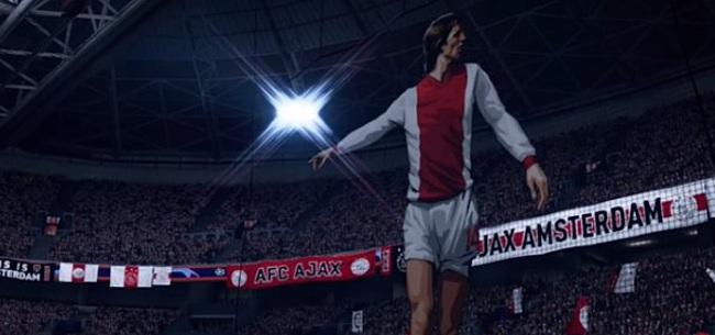 Foto: Demo FIFA 2020 opent met indrukwekkende Cruijff-tifo door Ajax-fans