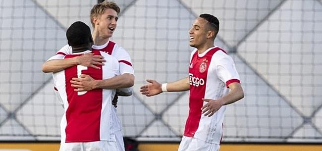 Foto: Jong Ajax verslaat Jong FC Utrecht in oefenduel