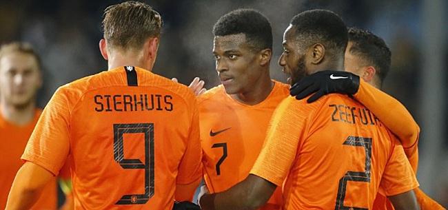 Foto: Jong Oranje boekt zevende zege op rij dankzij weergaloze goal in blessuretijd
