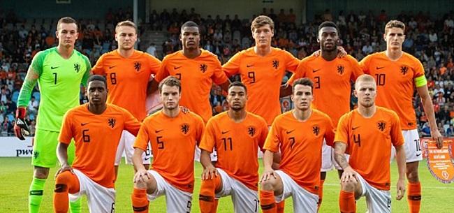 Foto: Jong Oranje zorgt voor boze reacties: