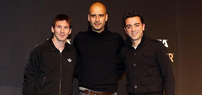 Foto: 'Guardiola en Xavi worden verrassend trainersduo'
