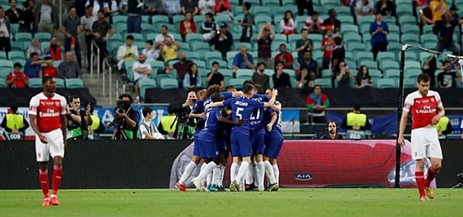 Foto: Chelsea pakt Europa League: Hazard lichtpuntje in troosteloos Baku