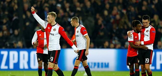 Foto: Tien Feyenoorders verslaan Napoli in extremis