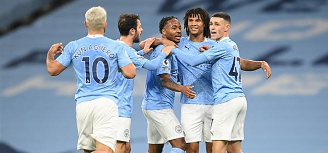 Foto: Manchester City wint Engelse topper dankzij Sterling
