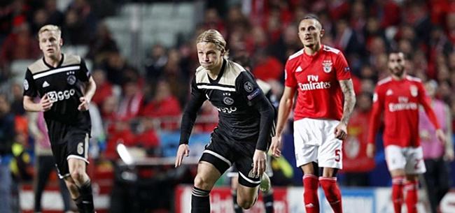 Foto: Incident tijdens Benfica-Ajax zorgt voor grote verbazing: 'Kan echt niet'