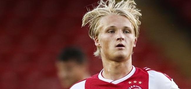 Foto: Ajax laat Dolberg eerst minuten maken in Jong
