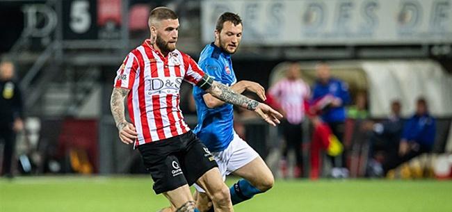 Foto: Twente kan champagne nog niet ontkurken: Sparta stelt kampioensfeest uit