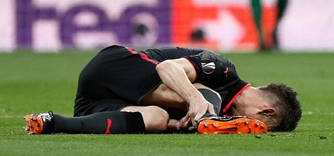 Foto: Arsenal-speler stevig toegetakeld door Lukaku: 'Ik kan niet meer eten'