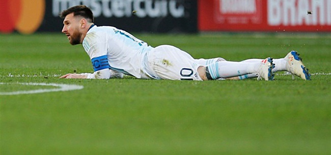 Foto: Messi krijgt schorsing en boete van CONMEBOL