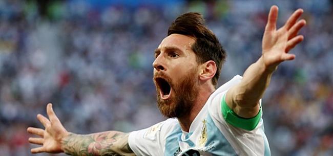 Foto: Messi slaakt zucht van opluchting: