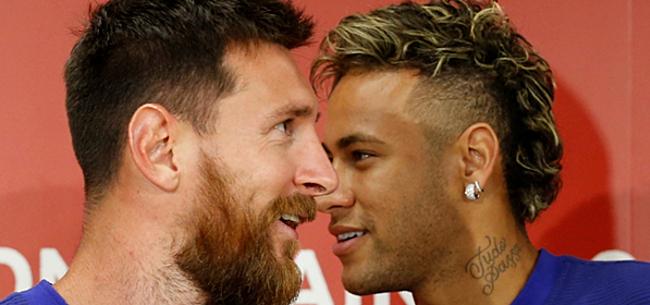 Foto: Neymar neemt voorbeeld aan Messi: 'Dat wil ik ook doen'