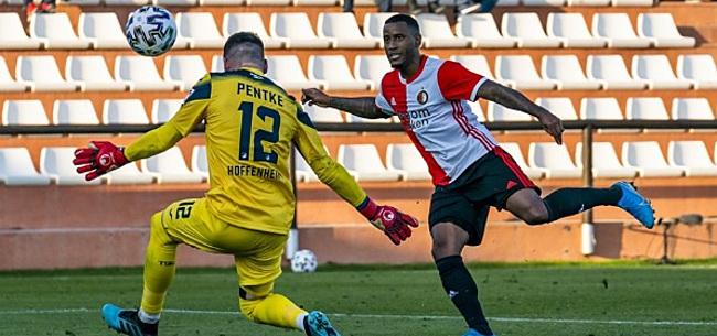 Foto: Oefenduel tussen Feyenoord en Dortmund op losse schroeven