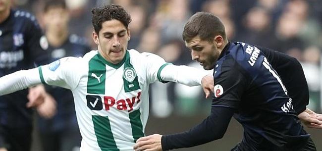 Foto: Groeibriljant van FC Groningen oog in oog met jeugdheld: