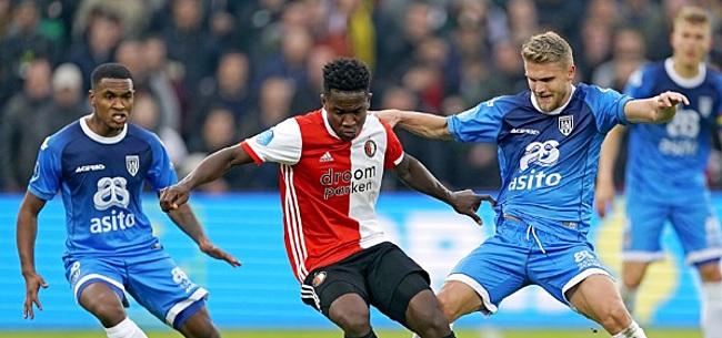 Foto: Feyenoord slaat wederom modderfiguur en weet Heracles niet te verslaan