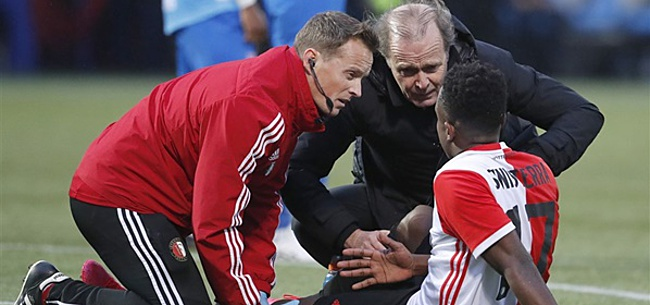 Foto: 'Fikse tegenvaller voor Feyenoord: Sinisterra zwaargeblesseerd'