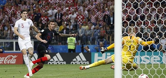 Foto: Mario Mandzukic schiet Kroatië in verlenging naar WK-finale