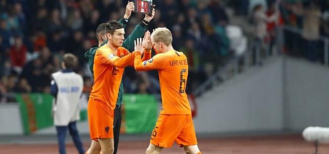Foto: Discussie bij Oranje: 'Ik snap dat je dan meer aan hem hebt'