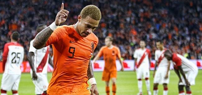 Foto: Memphis niet blij met Oranje-spel: