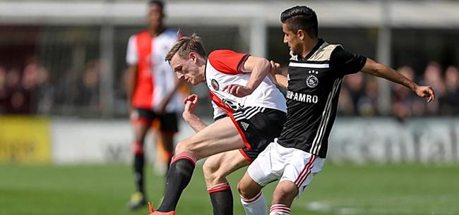 Foto: Feyenoord-fans halen uit: 'KNVB had Ajax veel harder moeten straffen'