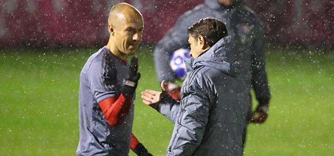 Foto: Bayern-trainer Kovac uit zorgen over Robben: 'Hij is nog steeds niet fit genoeg'