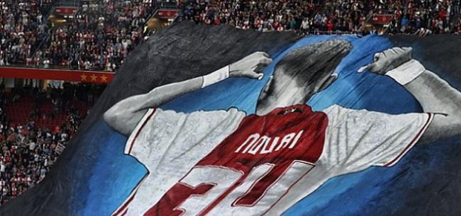 Foto: Benfica-fans steken Nouri hart onder de riem in uitvak