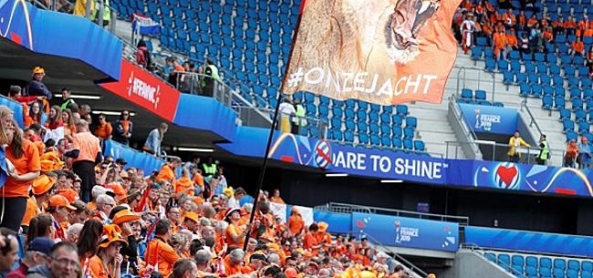 Foto: Oranje Leeuwinnen openen WK in bizar leeg stadion