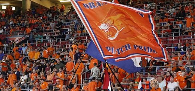 Foto: Oranje-fan baalt in De Kuip: