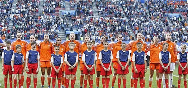 Foto: Nederland ondanks zege Leeuwinnen furieus: