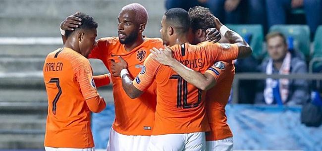 Foto: Fans fileren Oranje-international: