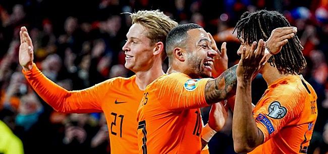 Foto: Wijnaldum schiet Oranje met hattrick naar ruime zege
