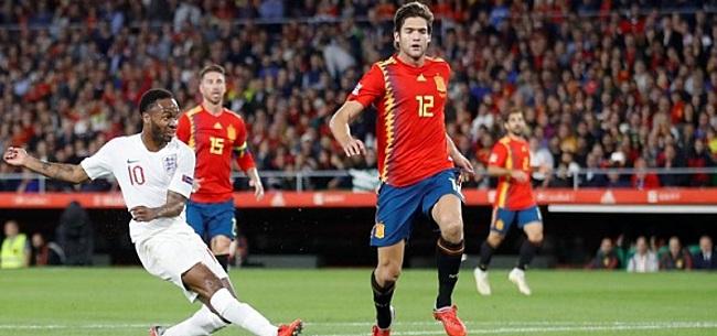 Foto: Engelsen schitteren tegen Spanje: