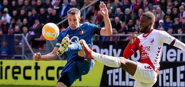 Foto: Fans FC Utrecht en Feyenoord gaan los op actie Bazoer