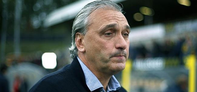 Foto: Maaskant in de clinch met interviewer: 'Originele vraag hoor'