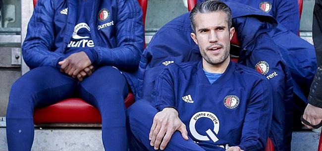 Foto: Opstelling Feyenoord tegen Ajax: 'Van Persie voor Jörgensen'
