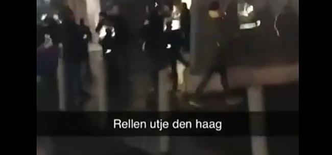 Foto: Misselijkmakende incidenten na Utrecht - ADO: vier agenten gewond geraakt