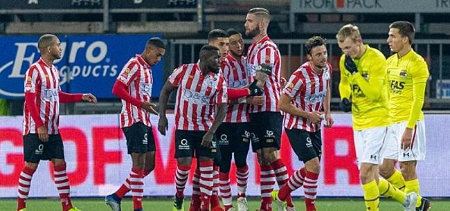 Foto: Sparta profiteert van remise in topper, Twente wint bij Cambuur