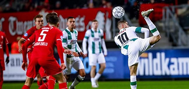 Foto: Onmachtig Twente en Groningen eindigen doelpuntloos in Enschede