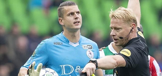 Foto: Sparta-goalie Coremans reageert op bizarre kopstoot tegen Groningen