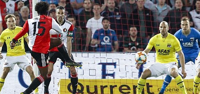 Foto: Van Persie lijkt derde plek Feyenoord veilig te stellen