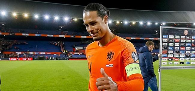Foto: Van Dijk over Oranje: