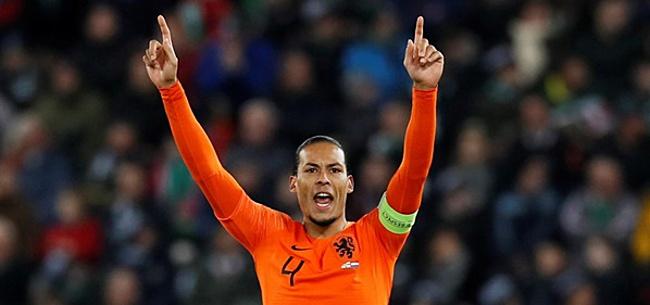 Foto: Van Dijk hecht weinig waarde aan spel Oranje: 'EK gehaald'