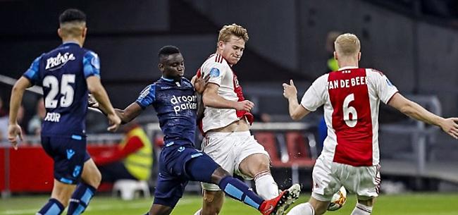 Foto: Kijkers maken Ajax-speler met de grond gelijk: 'Haal hem er maar gelijk af'