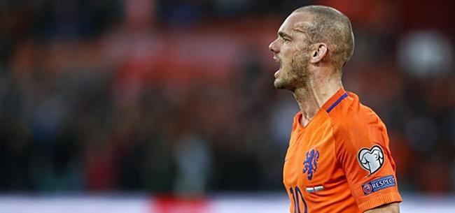Foto: Sneijder doet Oranje-onthulling: