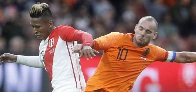 Foto: Memphis helpt Oranje aan zege bij afscheid Sneijder