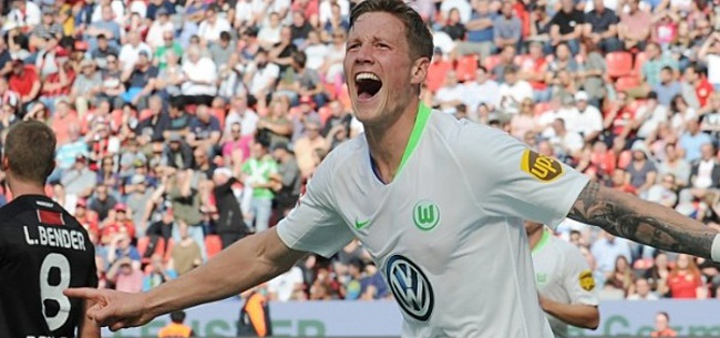 Foto: Wout Weghorst gekroond tot sprintkoning van de Bundesliga