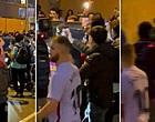 Foto: Bizarre beelden: Koeman zwaar belaagd na verloren Clásico