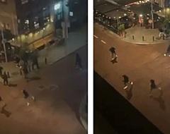 Beelden van aanval Feyenoord-hooligans op Union-personeel (🎥)